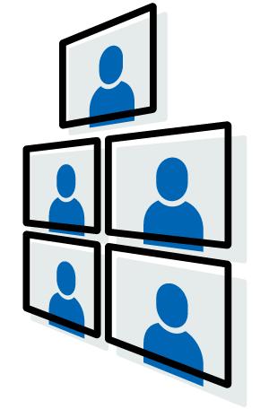 複数名によるグループ会議機能